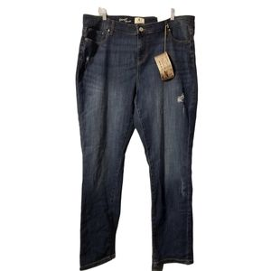 DC Jeans Distressed Straight Leg Jeans 20 NWT